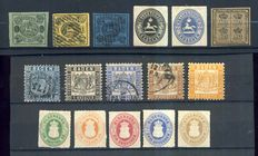 Baden, Brunswick, Oldenburg 1853/1867 - Small lot of classic stamps