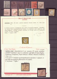 The Old Italian States - Selection of values all Caffaz and Raybaudi signed