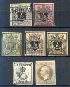 Hannover 1851/1859 - Small classic lot of stamps