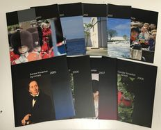 Denmark 2000/2008 - Collection of 9 official year sets