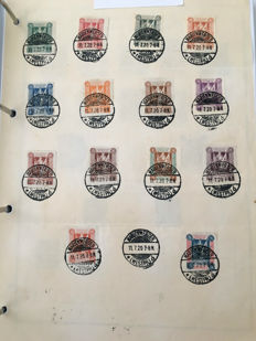 German territories Memel 1920/1923 - Collection on album pages