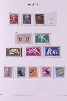 Switzerland and Britain 1852/1984 - Two collections in two Davo albums