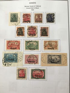 German territories Danzig 1920/1938 - Collection on album pages
