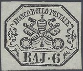 Check out our Papal States 1852 - Stemma pontificio - Sassone 7a with certificate