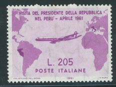 Italy 1961 - Visit of the President of the Republic Gronchi in South America - Sassone 921