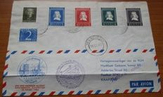 Word 1951/1983 - Airmail postal items and First Flights, a lot from the Netherlands, FDC large letters Europa