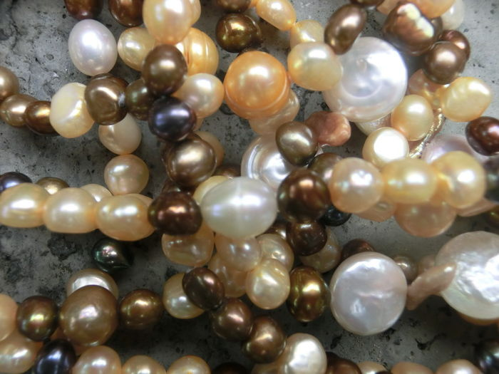 m long natural pearl necklace various types of. Black Bedroom Furniture Sets. Home Design Ideas