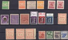 Germany with local issues and further countries - Batch with 3 stock books and 1 folder