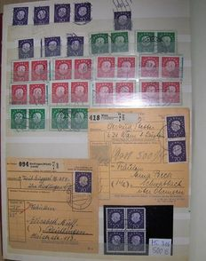 Federal Republic of Germany - Heuss I to III - Batch of mainly horizontal pairs + blocks of 4