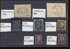 Prussia 1844/1940 - Batch of cancellations of East Prussia