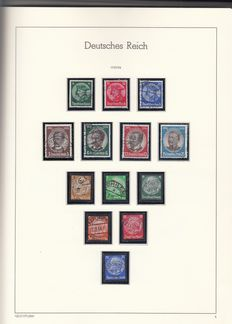 German Reich 1933/45 - collection on Lighthouse Leuchturm pages