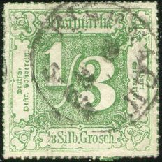 Old Germany, Thurn und Taxis 1866 - Ciper in Square - Michel 46