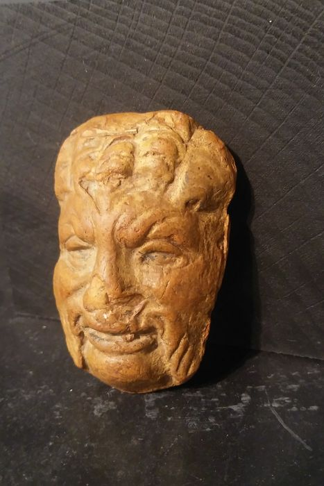 Roman stone carving of a male head mm catawiki