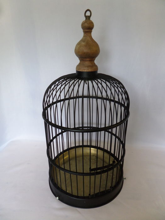 Cage d 39 oiseau d corative en cuivre noir catawiki for Cage d oiseau decorative