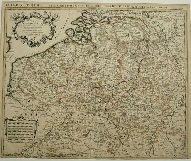 belgium pieter mortier carte des pays bas catholiques approx 1750 catawiki. Black Bedroom Furniture Sets. Home Design Ideas