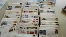 USA - Batch of FDCs and small collection of misperforations