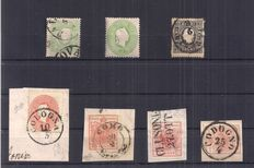 Lombardo Veneto 1850/1865 - Selection stamps and cancellations - 1 letter - Sassone 3, 4, 12, 13, 16, 18, 21, 26, R13