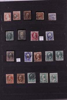 USA 1851/1966 - Small batch in stock book
