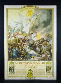 Dutch school chart Cornelis jetses as a commemoration of the war years and the liberation.