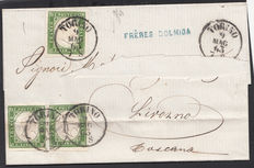 Italy 1863 - Letter from Turin to Livorno