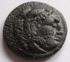 Greek Antiquity - Makedonia, Philip lll. 323 - 317 BC, AE 20 m/m, and countermark