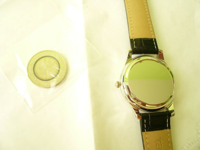 Germany- Set: 5 Euro 2016 Planet earth and wrist watch ...