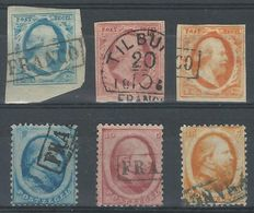 Netherlands 1852/1864  - King William III 1st and 2nd issue - NVPH 1/3 and 4/6