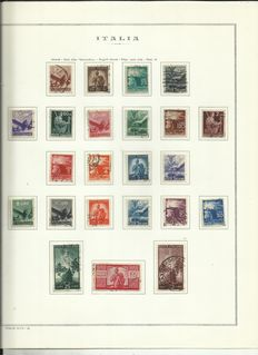 Italy Republic 1945/1955 - Collection mounted on albums and sheets