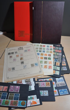 Luxembourg - Batch from classic in stock books and on album pages