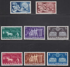 Europa Stamps 1950/1951 - CEPT forerunners Saarland and Luxembourg - Michel 297/298 and 478/483