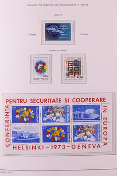 Europa Stamps 1972/1983 - Collection followers/K.S.Z.E. in Leuchtturm Deluxe album