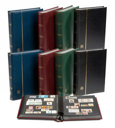 Accessories - 8 padded stock books (with 64 black pages) of Leuchtturm