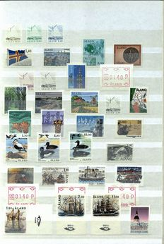 Åland 1984/2012 - Complete collection including machine stamps in a stock book