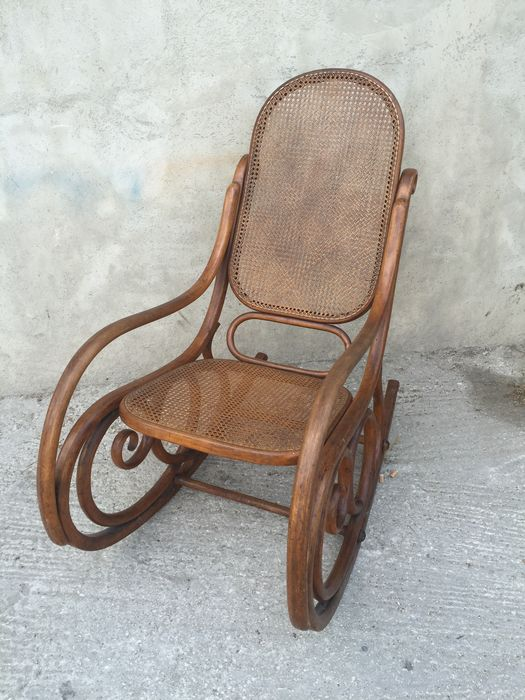 bentwood rocking chair thonet style 1920 approx catawiki. Black Bedroom Furniture Sets. Home Design Ideas