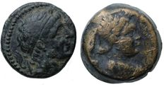 Greek Antiquity - Lot of 2 High Quality Greek Coins, 1- ANTIOCHOS I. SOTER. Est. 70$ , 2- Antiochos VII Euergetes (Sidetes) . Est. 50$