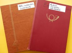 West Germany, Luxembourg, Austria, UN Vienna and Geneva 1949/2000- Collection in 2 stockbooks