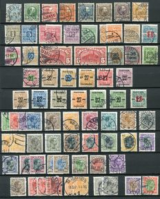 Denmark 1882/1928 - Small collection between Michel 33 and Michel 176