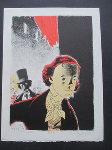 """Le Gall, Frank - Lithograph P.L.G Editions """" David Copperfield"""" - (90's )"""