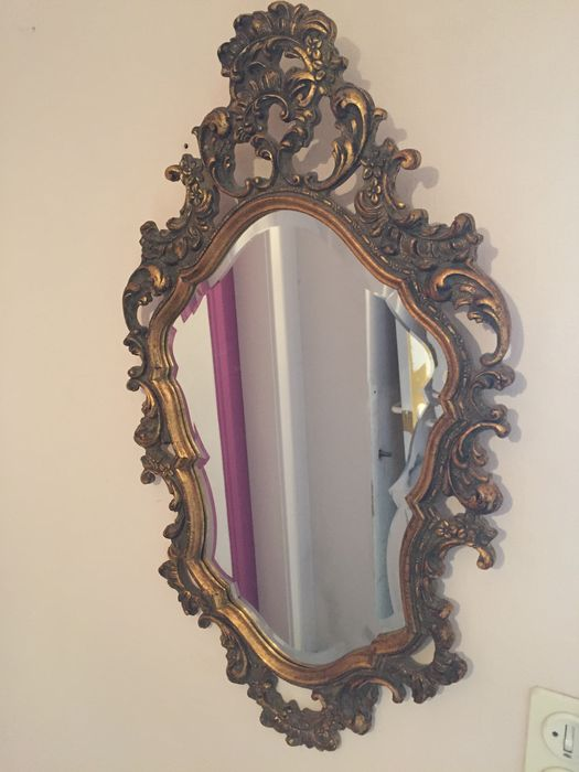 Gilded italian mirror in baroque style catawiki for Gilded baroque mirror
