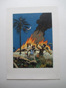 """Jano - Serigraphy Anagraphies """" Africa """" - ( 1985)"""