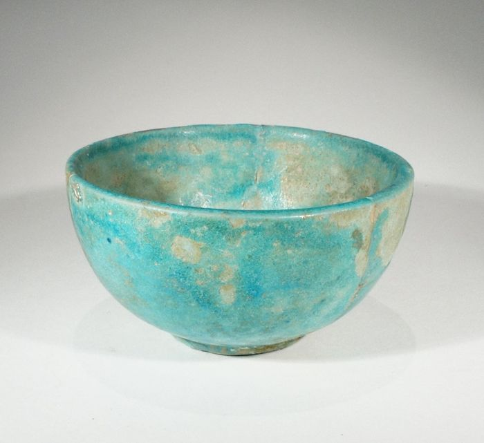 Turquoise faience cup 7 5 cm catawiki for Faience turquoise