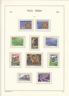 Italy 1970/1999 - collection on Lighthouse Leuchturm pages