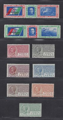 Italy 1926/1933 - Airmail - Sassone  PA2A/7 and PA51/52