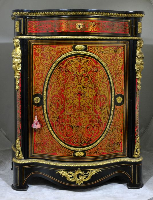 a napoleon iii gilt bronze mounted boulle style marquetry meuble d appui france circa 1860 1880. Black Bedroom Furniture Sets. Home Design Ideas