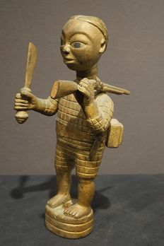 Akan Colon figure top of a Linguist Staff. Ivory Coast