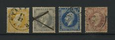 Norway 1850/1930 - Small collection on 2 cards