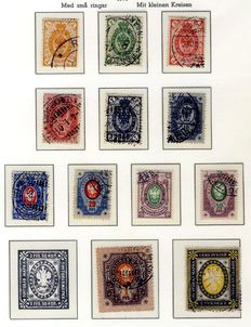 Finland 1875/1915 - Collection with duplicates on album pages