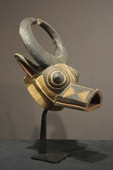 A Passport bushcow mask; Bwa-Bobo people, Upper Volta/Burkina Faso.