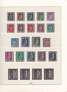 Austria 1945/1997 - Extensive Collection in 3 Wine Red Hingeless Lindner T Albums