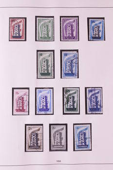 Europa stamps 1956/1979 - Collection CEPT complete in Safe album except for 3 stamps